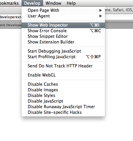 Enable Web Developer Extensions in Chrome, Safari, iOS